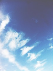 number 6 (imcalledjames) Tags: blue sky sun white hot weather clouds vintage out pale washed washedout