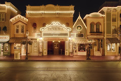 Disneyland Main Street Cinema (cstout21) Tags: california ca travel chris vacation usa lights us colorful unitedstates disneyland disney mickeymouse anaheim movietheatre walt lightposts hdr highdynamicrange stout waltdisney mainstreetusa steamboatwillie disneylandresort ngoc canon60d mainstreetcinema stoutandstout northamera