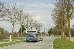 5815 auf der Paul-Henri-Spaak-Straße (Frederik Buchleitner) Tags: bus munich münchen mercedes benz shuttle messe omnibus shuttlebus bauma gelenkbus ocm 5815 o405gn messemünchen omnibusclub omnibusclubmünchenev