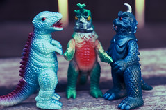 (zilladon) Tags: monsters manualfocus japanesetoys bullmark megalon manualexposure gorosaurus japanesemonsters gomess