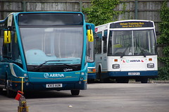 Arriva new and old - Arriva Southend Optare Versa 4246, KX13 AUN with Dennis Dart / East Lancs EL2000 driver trainer T005, L507 CPJ (EastBeach68) Tags: one kent thameside optare optareversa arrivasoutherncounties arrivakentthameside arrivasouthend 2013optareversa newoptareversa arrivasouthendbus newsouthendoptares southendversaslaunch newarrivabuses optareversav1170 newsouthendversas route1versas arriva2013optareversas newsouthendversa newsouthendoptareversa southendversalaunch optareversav1170v1170arriva