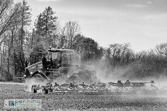 Preparing for Planting (MattPenning) Tags: tractor blackwhite wind pentax farm windy potd soil dust k5 tilling springfieldillinois farmfield mattpenning kmount mattpenningcom pentaxsmcpfa77mmf18limited penningphotography justpentax pentaxk5