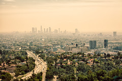 Haze of LA (Bryan Nabong) Tags: california city urban skyline losangeles day cityscape afternoon unitedstates time hollywood freeway northamerica geography southerncalifornia hollywoodhills mulhollanddrive hollywoodbowloverlook
