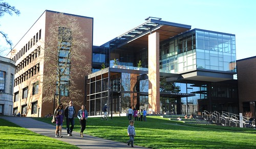 Elegant Paccar Hall, Business School, Contemporary Architecture, University Of  Washington, Campus, Seattle