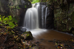 Lumsdale Falls (Paul Newcombe) Tags: longexposure autumn england water flow countryside waterfall october derbyshire peakdistrict british peaks cpl circularpolariser polariser canon1740l 2013 lumsdale peakdistrictphotography lumsdalefalls paulnewcombephotography