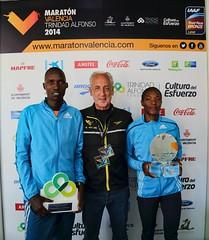 Maraton de Valencia podio