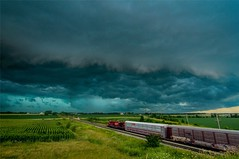 Forces (sdl39hogger) Tags: cp canadianpacific watertownsub ge generalelectric gevo thunderstorm severestorm watertown wisconsin