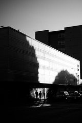 Olympia, 2016 (Warfield360) Tags: building architecture geometry shadows birds people walking street urban city sunset trees lamppost sky