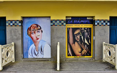 Deauville ...la  Promenade des Planches  ... (3) (miriam ulivi) Tags: miriamulivi nikond7200 france normandie deauville promenadedesplanches paintedbeachhuts cabanesdeplagepeintes cabinedipinte