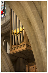 Scissor Arch & Organ Pipes - Wells Cathedral (Otis335) Tags: wells cathedral interior colour arch organ pipes stonework