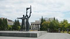 Novosibirsk. August 2016 (nikolasrybin) Tags: russia august summer siberia traveling novosibirsk urban street 2016 architecture olympus pen epl3 sculpture theater