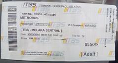 bus ticket from Kuala Lumpur to Malacca (Malaysia) (Sasha India) Tags: malaysia kualalumpur ticket busstation busticket          malasia gira billete