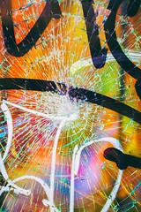 Broken (Thomas Hawk) Tags: america california flickrphotowalk macromonday mission missiondistrict photowalk sanfrancisco usa unitedstates unitedstatesofamerica westcoast brokenwindow graffiti macro