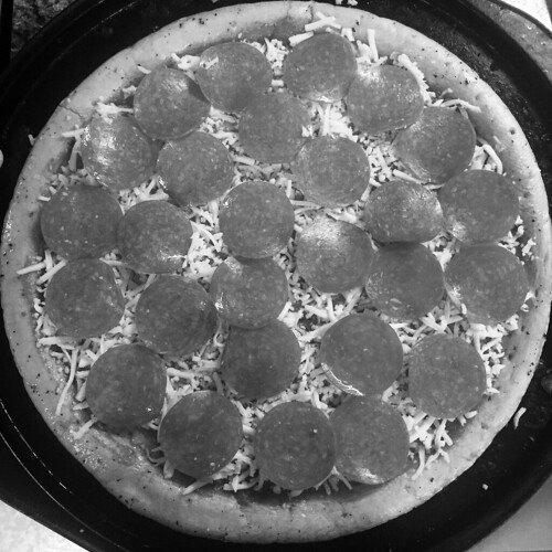 B&W Pepperoni Pizza (Noir)