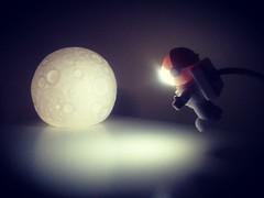 Moon light (EleTNT) Tags: moon astronaut lamp light night sleep bedside universe lovely