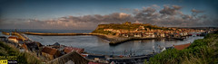 Whitby (dave hudspeth photography) Tags: whitby yorkshire pretty famous iconic dracula england landscape panoramic rive sea church water refections town fishing boats river esk abbey steps black dog