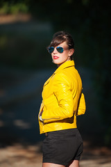 Elodie : Portrait : Nikon D700  : Nikkor 200 500 mm F5.6 AFS VR : Leather Jacket (Benjamin Ballande) Tags: elodie portrait nikon d700 nikkor 200 500 mm f56 afs vr leather jacket