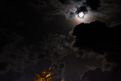 Southern Moon (John fae Fife) Tags: fujifilmx nightphotography cloudscape bziers moonscape xt1 villeneuvelsbziers moon night nightscene france clouds