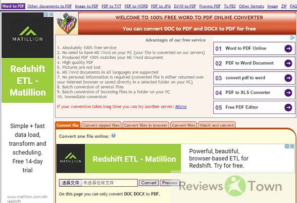 Top 10 Best MS Office to PDF Converter Online Programs