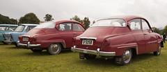 Trabant, Saab 96, Saab 96 - IMG_5119-e (Per Sistens) Tags: cars thamslpet thamslpet16 orkladal veteranbil veteran trabant saab 96