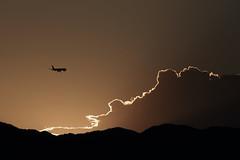 20160821_IMG_8094 (NAMARA EXPRESS) Tags: landscape airplane jetplane sky cloud mountain darksky deepsky dark shine edge contour outline sunset summer fine outdoor color toyonaka osaka japan canon eos 7d tamron sp 70300mm f456 namaraexp