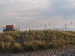 Copenhagen 2016 (hunbille) Tags: denmark amager amagerstrandpark strand strandpark beach sunrise dawn summer bath oresund resund water sea kbenhavn copenhagen windmill windmills turbine