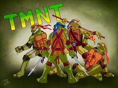 TMNT (Kory / Leo Nardo) Tags: tmnt teenage mutant ninja turtles art digital fan team katana sai nunchucks bow staff leo raph mickey donnie leonardo raphael michelangelo donatello anthropomorphic