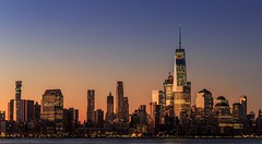 Sunrise over the city that never sleeps. The fresh fall day started with a clear sky and amazing views of downtown Manhattan. (Borgkvist) Tags: andersborgkvist downtownmanhattan oneworldtradecenter buildings sky colors worldtradecenter cityscape newyork manhattan sunrise
