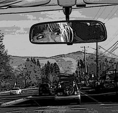 Reliable Rage (landbergmary) Tags: marylandberg blackandwhitephotography conceptualphotography storytelling selfportrait photojournalism rage roadrage