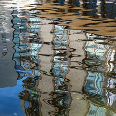 Ripples 2 (PeteZab) Tags: water reflection abstract ripple colour nottingham canal peterzabulis petezab zabzone building distorted
