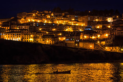 Magia en Lastres (m) Tags: beauty light canon night asturias 50mm mar barco sea luz noche nocturna lastres