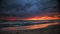 September winds (wiltsepix) Tags: higgins lake sunset michigan