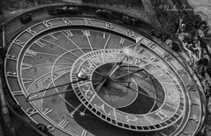 Astronomical Clock (Nicolas Ferrer) Tags: canon canoneos60d abstract sigmalenses sigma1770mm pragueastronomicalclock prague praha praga blackandwhite blancoynegro monochrome