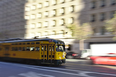 [September Photo Challenge 26/30 - A photo of San Francisco per day, every day!] (ant0ine) Tags: sanfrancisco california blur motion motionblur marketstreet streetcar streetphotography