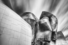 EMP Museum (Byron O'Neal) Tags: blackandwhite monochrome seattle center emp museum puget sound cityscape architecture travel space needle gehry famous beautiful big stopper usa king county