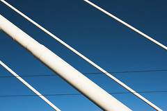 Crusell Bridge (pni) Tags: bridge blue sky suomi finland helsinki support beam helsingfors cablestayed skrubu pni pekkanikrus