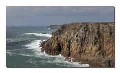 Impressive (Simon Bone Photography) Tags: sea seascape beach rock coast sand cornwall cove shoreline cliffs coastal landsend granite coastline formations gwennaphead beachscape canoneos5dmkii porthloe wwwsimonbonephotographycouk canonef24105mmislf4