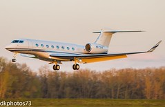 G650 Sunset (dkuttel) Tags: sunset canon portland corporate rollsroyce landing gulfstream privateplane savannahgeorgia aviaton privatejet gulfstreamaerospace portlandinternationalairport 70200f28lis corporatejet g650 canon7d