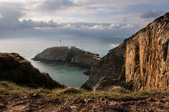 Lighthouse (NeilSkinner01) Tags: sea sky lighthouse wales clouds coast high south cliffs stack safety anglesey hight