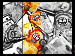 my favorite dip (Palllew) Tags: bw white black colors snacks dip selective olw