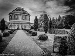 Ickworth Rotunda (Scrufftie) Tags: uk england blackandwhite bw monochrome canon unitedkingdom nationaltrust countryhouse ickworth canonixus130 niksilverefexpro2