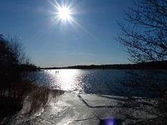Ice is melting (petrusko.rm) Tags: blue sky sun lake ice lumix spring sweden panasonic melt fz200