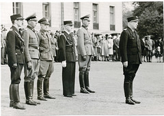 P slottsplassen. Quisling, Terboven, von Falkenhorst, Bhm. (Riksarkivet (National Archives of Norway)) Tags: worldwar2 secondworldwar quisling krigen vidkunquisling jonaslie andreverdenskrig okkupasjonstiden