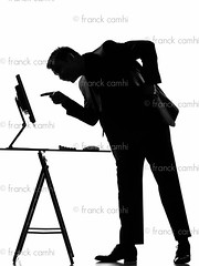 silhouette  man  computing (Franck Camhi) Tags: desktop shadow portrait people white man black male smile smiling silhouette businessman cutout computer table person one 1 office pc display desk threatening menacing profile fulllength monitor using business suit indoors whitebackground computing friendly casual studioshot grayscale sideview pointing executive showing threat menace oneperson caucasian oneman computerbug mistrust usingcomputer