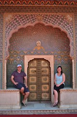 Jeff and Kris, City Palace, Jaipur (jdmiller83) Tags: india asia jaipur rajasthan citypalace subcontinent