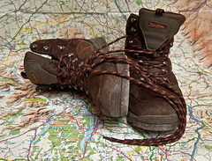 These boots are made for walking. (Seascape snapper) Tags: boots map