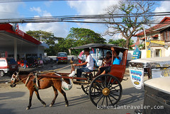 riding a calesa horse drawn cart (4) (BohemianTraveler) Tags: old city horse heritage architecture island town site asia pacific district philippines colonial chinese unesco mexican spanish filipino sur vigan ilocos kalesa luzon calesa mestizo