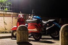 Padua night sesh #1 - Nights mounts (MetzHC) Tags: city longexposure nightphotography urban night photoshop nikon vespa tripod motorcycle parked moped padova padua veneto
