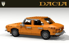 Dacia 1300 - 1969 - Romania (lego911) Tags: auto classic 1969 car model lego render 66 renault communist romania 12 challenge cad lugnuts 1310 1300 povray moc dacia ldd miniland lego911 behindtheironcurtain