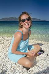 Kefalonia fun (Alex Bramwell) Tags: beach mediterranean mother greece pebble kefalonia skala